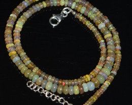 45.00 CT OPAL NECKLACE MADE WITH NATURAL ETHIOPIAN BEADS OBJ-71