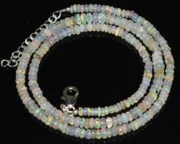 OPAL NECKLACE MADE WITH NATURAL ETHIOPIAN BEADS OBJ-72