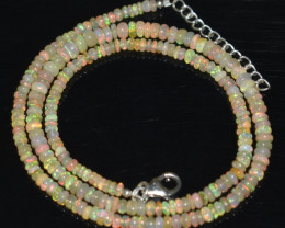 OPAL NECKLACE MADE WITH NATURAL ETHIOPIAN BEADS OBJ-73