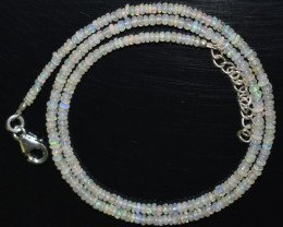 24.00 CT OPAL NECKLACE MADE WITH NATURAL ETHIOPIAN BEADS OBJ-74