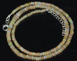 37.90 CT OPAL NECKLACE MADE WITH NATURAL ETHIOPIAN BEADS OBJ-77
