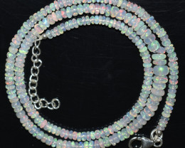 36.50 CT  OPAL NECKLACE MADE WITH NATURAL ETHIOPIAN BEADS OBJ-78