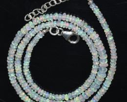 OPAL NECKLACE MADE WITH NATURAL ETHIOPIAN BEADS OBJ-81