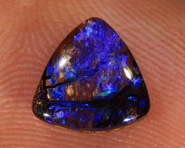 1.3ct 8x7.6mm Yowah Boulder Opal Wood Fossil [LOB-3124]