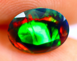 0.88cts Natural Ethiopian Smoked Faceted Black Opal / BF842
