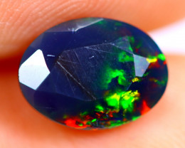1.08cts Natural Ethiopian Smoked Faceted Black Opal / BF844