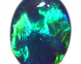 3.85Cts Nice Green flash pattern  Black Opal OPJ 2861