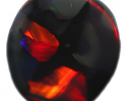 1.12 CTS BLACK OPAL STONE-WAGON WHELL-FROM  LIGHTNING RIDGE - [LRO100]