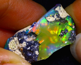 29.92Ct Bright Color Play Ethiopian Welo Opal Rough GR04