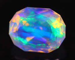 2.12Ct Master Cutting Natural Ethiopian Faceted Welo Crystal Opal H05