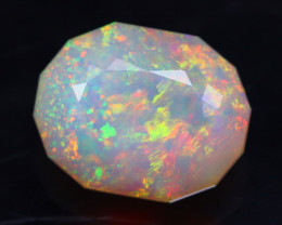 2.12Ct Confetti Color Master Cutting Ethiopian Faceted Welo Opal H09