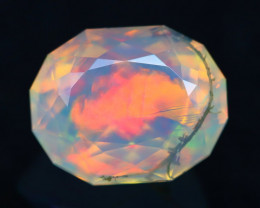 2.28Ct Master Cutting Natural Ethiopian Faceted Welo Opal H10