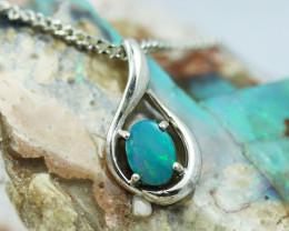 Australian Doublet Opal Pendant .925 silver OPJ 2869