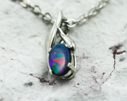 Australian Doublet Opal Pendant .925 silver OPJ 2872
