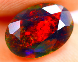 1.15cts Natural Ethiopian Smoked Faceted Black Opal / BF891