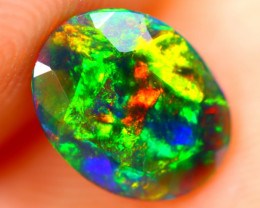0.75cts Natural Ethiopian Smoked Faceted Black Opal / BF892