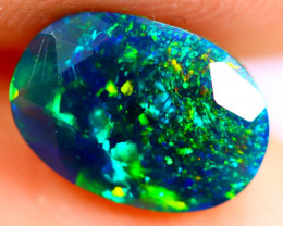 1.05cts Natural Ethiopian Smoked Faceted Black Opal / BF893