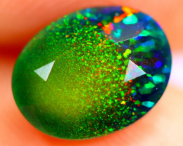 1.30cts Natural Ethiopian Smoked Faceted Black Opal / BF895
