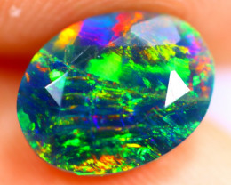 1.34cts Natural Ethiopian Smoked Faceted Black Opal / BF898