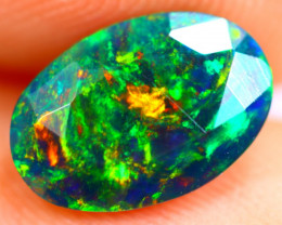 1.29cts Natural Ethiopian Smoked Faceted Black Opal / BF900