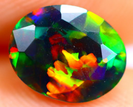 0.93cts Natural Ethiopian Smoked Faceted Black Opal / BF916