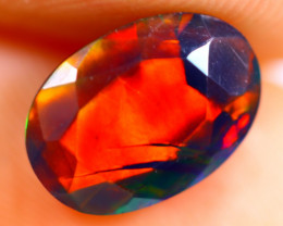 1.19cts Natural Ethiopian Smoked Faceted Black Opal / BF917