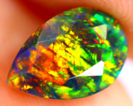 1.14cts Natural Ethiopian Smoked Faceted Black Opal / BF919