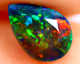 1.00cts Natural Ethiopian Smoked Faceted Black Opal / BF920