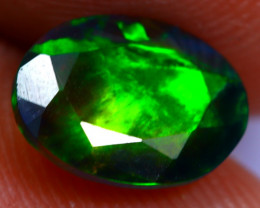 0.94cts Natural Ethiopian Smoked Faceted Black Opal / BF946