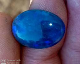 11.6 cts Dark crystal opal from Lightning ridge.