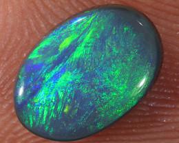 1.25ct 9x6.5mm Solid Lightning Ridge Dark Opal [LO-2074]