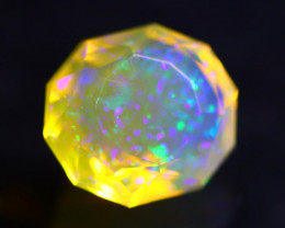 1.19Ct Galaxy Stardust Master Cutting Ethiopian Faceted Welo Opal H14