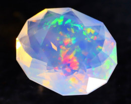 2.52Ct Confetti Color Master Cutting Ethiopian Faceted Welo Opal H43