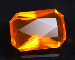 3.27Ct Master Cutting Natural Mexican Faceted Orange Fire Opal H44