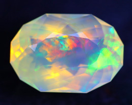 7.49Ct Aurora Flash Master Cutting Ethiopian Faceted Welo Opal H45