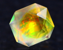 1.10Ct Master Cutting Natural Ethiopian Faceted Welo Opal H48