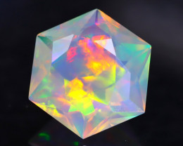 1.45Ct Rolling Flash Master Cutting Ethiopian Faceted Welo Opal H49