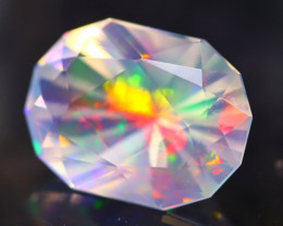 3.02Ct Master Cutting Natural Ethiopian Faceted Welo Opal H52