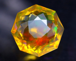 4.76Ct Master Cutting Natural Ethiopian Faceted Welo Opal H55