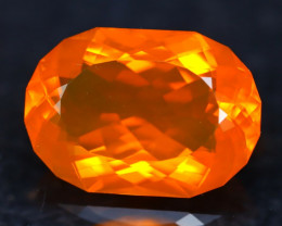 12.60Ct Master Cutting Natural Mexican Faceted Orange Fire Opal H58
