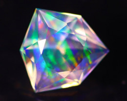 1.44Ct Master Cutting Natural Ethiopian Faceted Welo Opal H61