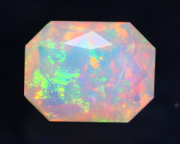 0.89Ct Master Cutting Natural Ethiopian Faceted Welo Opal H62