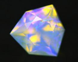 0.72Ct Designer Cutting Lightning Ridge Faceted Crystal Opal H65