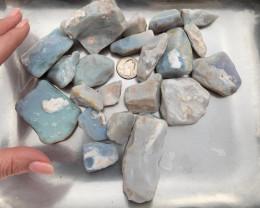 Natural Australian Lambina Potch and Colour Rough Opal Parcel Large Stones