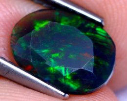 1.07cts Natural Ethiopian Smoked Faceted Black Opal / BF999