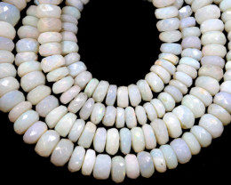 50  CTS  WHITE OPAL BEADS FACETED  DRILLED TBO 889