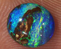 1.05ct 8x7mm Yowah Boulder Opal Wood Fossil [LOB-3147]
