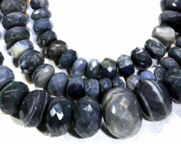 110  CTS   BLACK OPAL BEADS NECKLACE DRILLED TBO -890