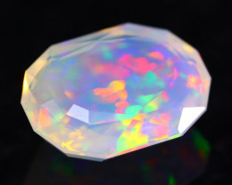 2.81Ct Master Cutting Natural Ethiopian Faceted Welo Opal H23