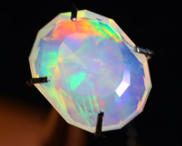 1.26Ct Master Cutting Natural Ethiopian Faceted Welo Opal H36
